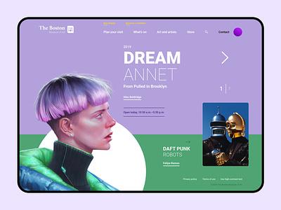 The Boston Museum of Art art museum ui design ui  ux ux design web design site design