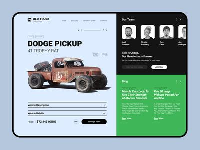 Old Truck Store store truck design ui  ux web design