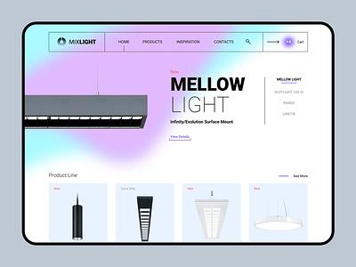 Mixlight - Lighting Design light design ui  ux webdesign web