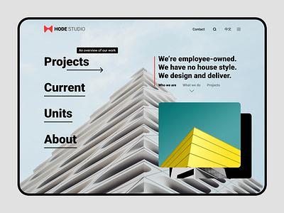 Hode Studio - Architects logo branding ui ux ux design ui design web design architect