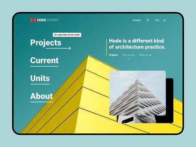 Hode Studio - Architects logo branding architecture interface ui ux ux design ui design web web design