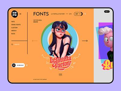 Kopo Fonts - Type Company ux design ui design type web design ui  ux fonts