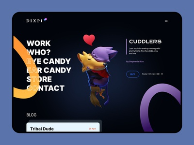 Dixpi Animation Studio website web studio animation interface ui design ux design ui  ux web design