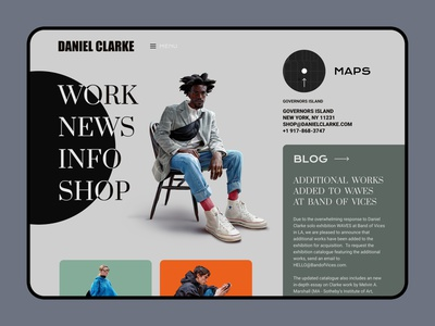Daniel Clarke - Designer/Illustrator designer illustrator interface ux ux design ui  ux ui design web website web design
