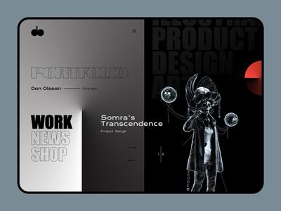Don Olsson - Portfolio product design art direction web design website portfolio interface ui  ux ux design ui design