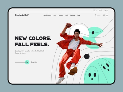 Reebok - Boston Promotion ux design ui design ui  ux interface web website web design