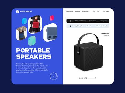 Urbanears shop ux interface ux design ui ui design ui  ux website website design web design web