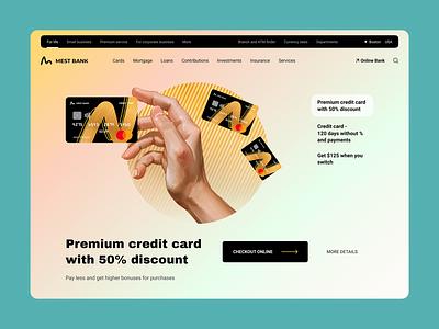 Mest Bank bussines bussines card card card design banking bank branding web web design interface ux design uxdesign ux  ui ui design