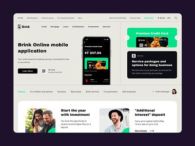 Brink Bank ui design ux design ui  ux interface bank dashboard bank app bank banking