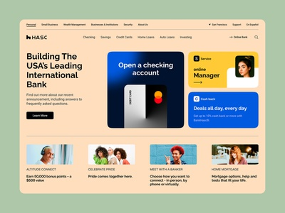 Hasc Bank ui design web design website interface ui  ux ux design