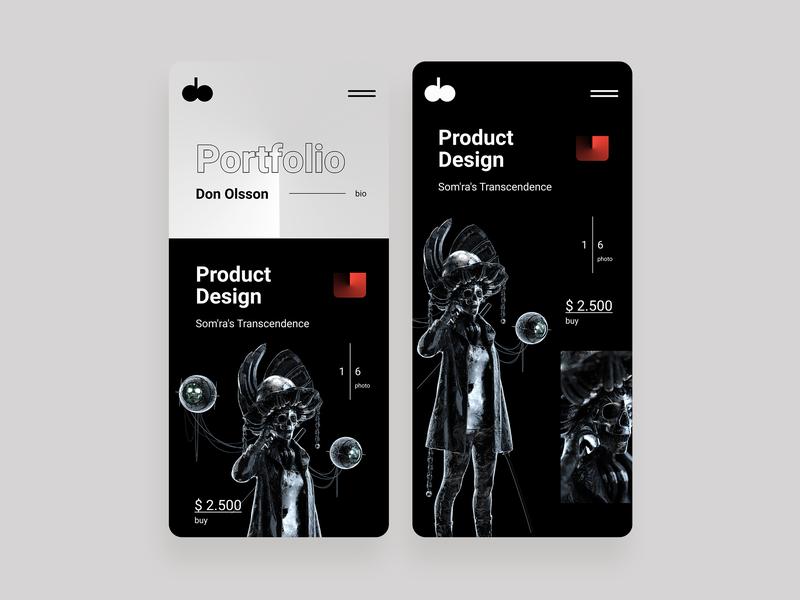 Don Olsson | Portfolio mobile app ui  ux design portfolio portfolio design portfolio page portfolio card