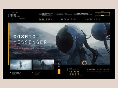 Cosmic Messenger - Travel project future space planet travel messenger cosmic