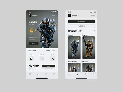 Battle Robots: Alienations ux design ui  ux ui design games robotics bionic app battle bot robots