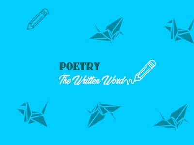 Poetry logo design illustration