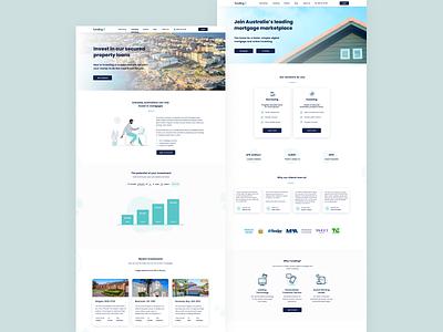 Funding.com Website 🏡 website design real estate investing startup fintech finance property ui ux