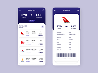 Flight Booking 🏖 ticket receipt qantas ios travel holiday flights booking