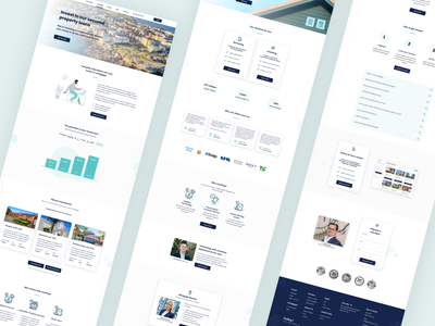 Funding Website Design 💰 startup loans shares property real estate investments fintech digital design ux ui