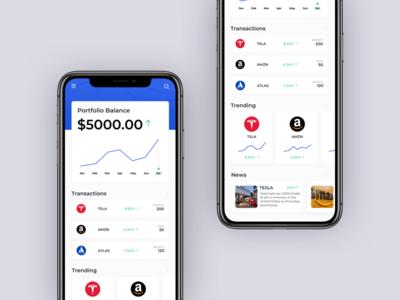 Share Trading App iphone finance trading shares fintech interface design ios digital design ui