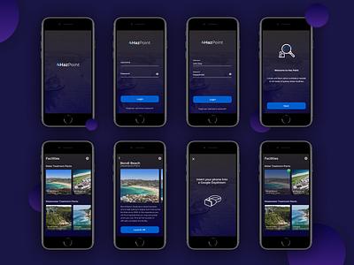 VR Hazard App app design vr ui ux