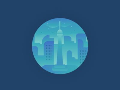 Toronto | Canada cn tower cityscape city canada toronto digital design illustration