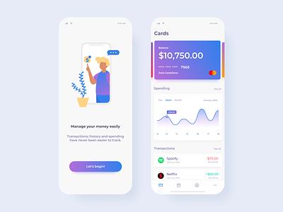 Spending Finance App business finance app ui ux interface design app design ios