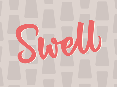 Swell retro 1950s swell bush lettering hand lettering lettering