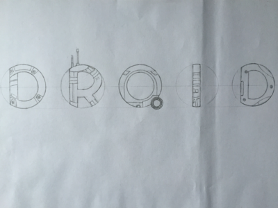 Droid BB-8 Star Wars Hand Lettering WIP star wars bb-8 bb8 droid handlettering hand lettering lettering