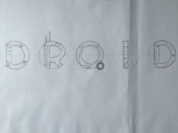 Droid BB-8 Star Wars Hand Lettering WIP