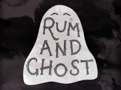 Rum and Ghost Lettering type ink ghost illustration lettering hand lettering