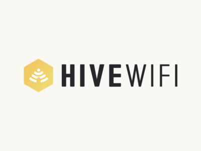 Hive WiFi Logo custom type brand bees hive logo wifi hive wifi