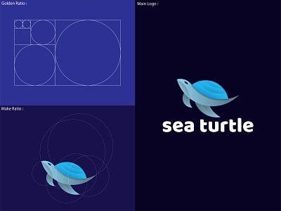 Sea  Turtle Logo design flat logo colorful logo logo logo branding logo creation business logo