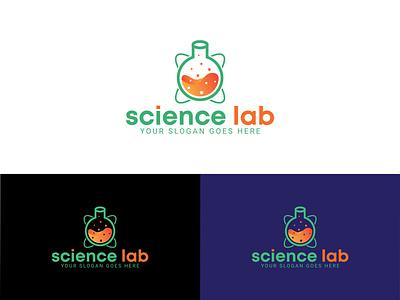 Science Lab Logo Design logo company logo design flat logo logo branding colorful logo logo creation business logo logo collection 2021