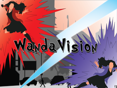 Wanda Vision vector design illustration