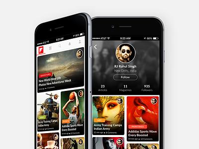 Flipboard App Concept clean minimal app redesign ux ui news concept flipboard