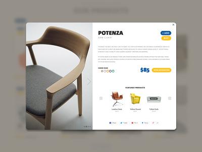 Daily UI #12 - E-Commerce Shop (Single Item) day12 shop e-commerce sofa clean ui ux minimal modern furniture dailyui