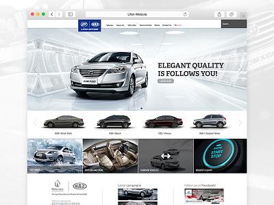 Lifan Motors Website car clean layout ux ui lifan minimal modern design website