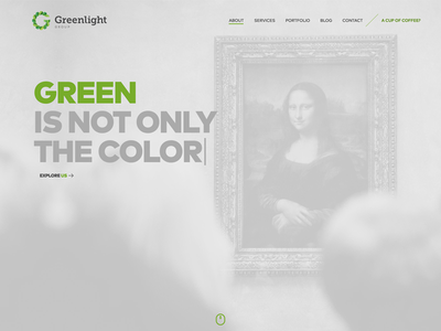 Greenlight Group layout green monalisa design page greenlight ux ui website