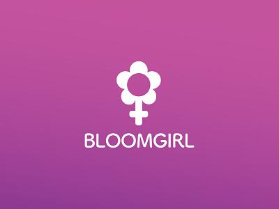 Bloomgirl Boutique spring gradient flower design boutique bloomgirl girl bloom logo