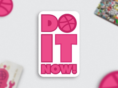 Do It Now! Sticker pack mule sticker playoff giveaway free stickers dribbble