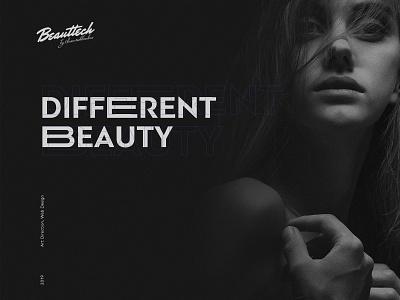 Beauttech website design branding art flat clean webdesign website minimal modern ui ux design