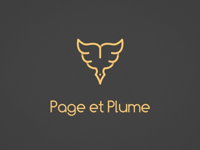Page et Plume - Logo redesign bookshop bookstore pencil feather book redesign logo