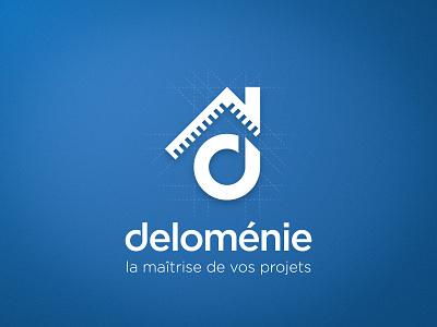 Logo proposal blueprint construction design logo