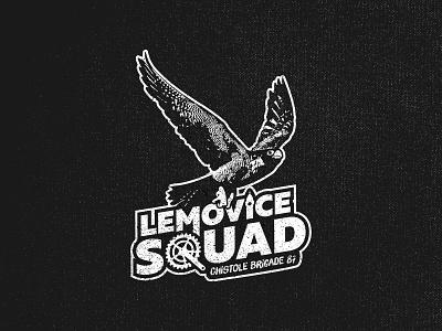 Lemovice Squad club cycling limoges falcon peregrine design logo