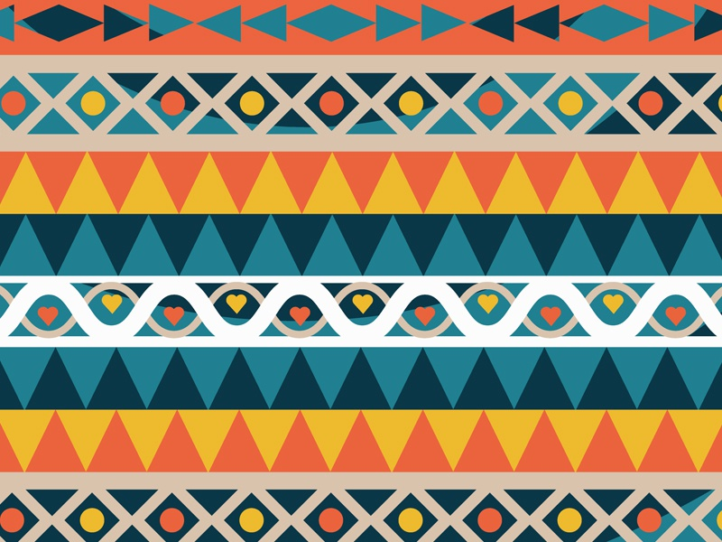 Phonecase design flat simple shapes patterns aztec design phonecase