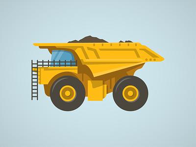Dump Truck tipper truck dump illustration