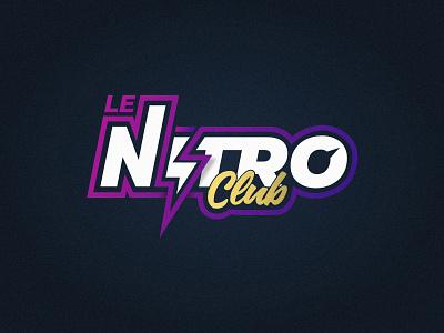 Le Nitro Club 80s style logo nightclub