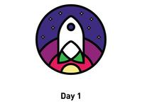 Day 1: Spaceship logo