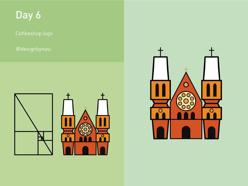 Day 6: Coffeeshop day6 vector branding illustration logodesign illustrator grid graphicdesign design dailylogochallange dailylogo adobe logo