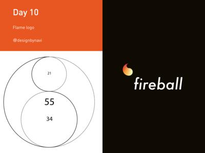 Day 10: Flame logo