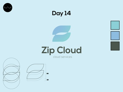 Day 14: Cloud computing logo